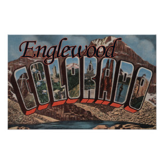 Englewood, Colorado - Large Letter Scenes Poster