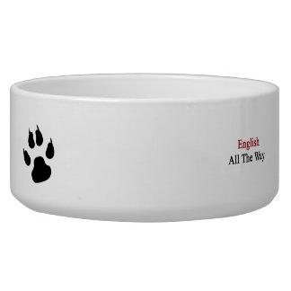 English All The Way Dog Food Bowl