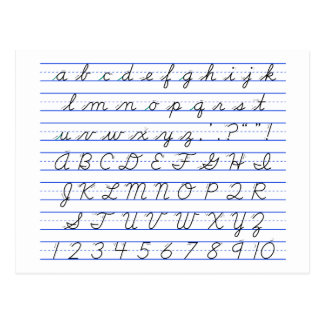 Number Names Worksheets : english alphabets in cursive writing ...