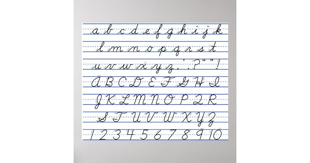 Cursive writing worksheets whole alphabet