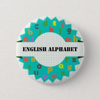 English Alphabet Round Buttons