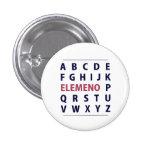 English Alphapbet ELEMENO Song 1 Inch Round Button