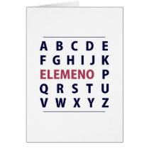 English Alphapbet ELEMENO Song Card