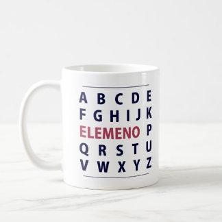 English Alphapbet ELEMENO Song Coffee Mug
