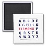 English Alphapbet ELEMENO Song 2 Inch Square Magnet
