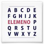 English Alphapbet ELEMENO Song Photo Print