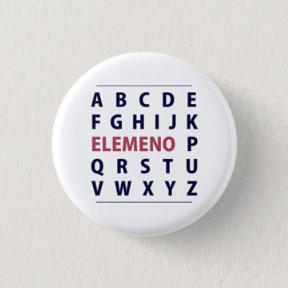 English Alphapbet ELEMENO Song Pinback Button