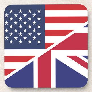 English American Flag 1 Drink Coaster