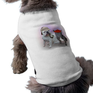 English and French bulldogs Pet Tshirt
