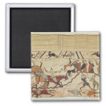 English and French soldiers 2 Inch Square Magnet