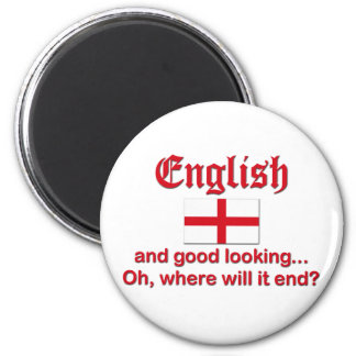English And Good Looking ... Refrigerator Magnets