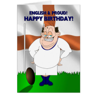 English and Proud Rugby Birthday Card