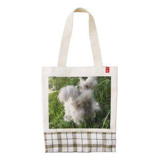 English Angora Heart Tote- Bradley Zazzle HEART Tote Bag