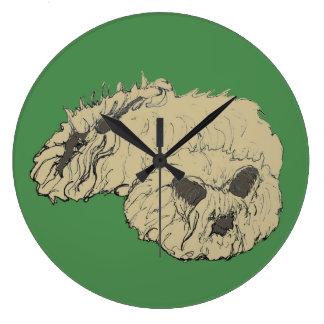 English Angora Rabbits Large Clock