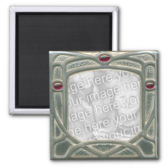 English Arts & Crafts frame with Garnets Magnet