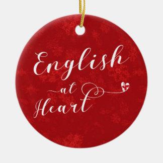 English At Heart, Christmas Tree Ornament, England Ceramic Ornament