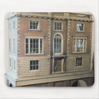 English balustraded doll's house with balcony mouse pad
