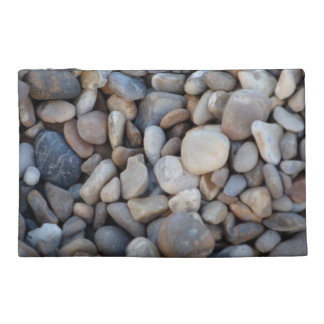 English beach pebbles travel bag