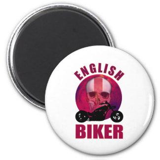 English Biker Skull Chop Magnet