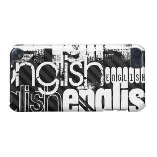 English; Black & Dark Gray Stripes iPod Touch 5G Case