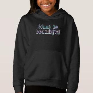 English BLACK IS BEAUTIFUL in Watercolor Hoodie