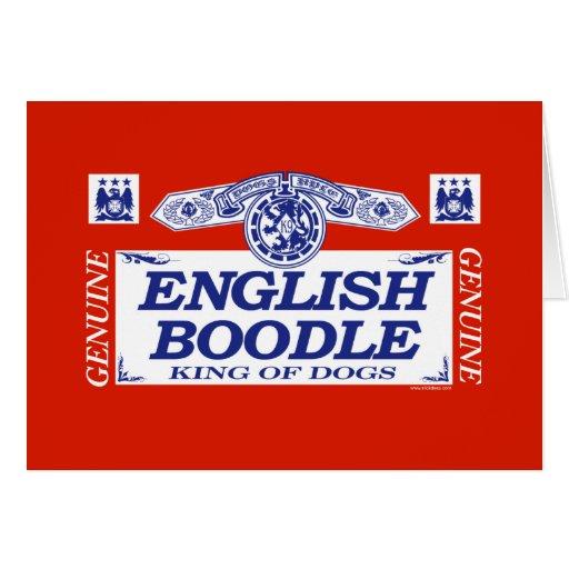 English Boodle Greeting Card
