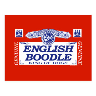 English Boodle Postcard