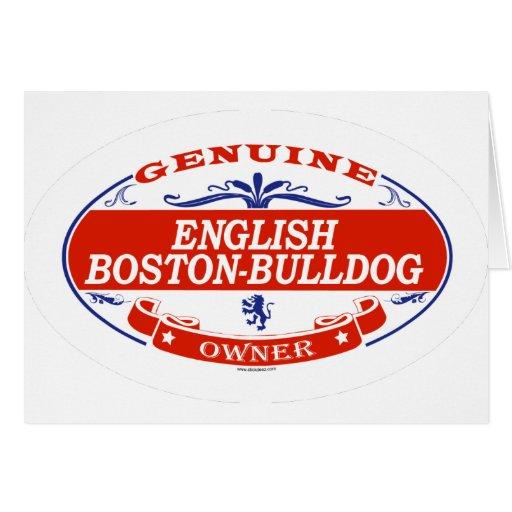 English Boston-Bulldog  Greeting Card