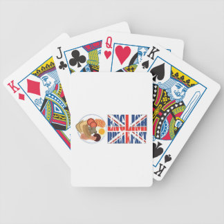 English Breakfast Bicycle Playing Cards