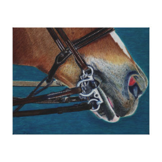 English Bridle Art Stretched Canvas Print