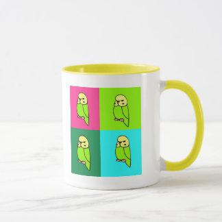 English Budgie Pop Art Mug
