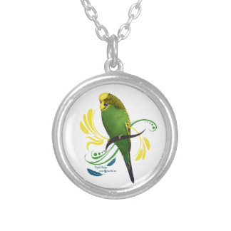 English Budgie Silver Plated Necklace