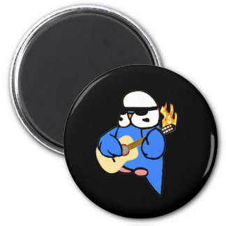 English Budgie Unplugged 2 Inch Round Magnet