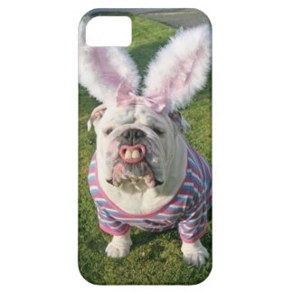 English Bull Dog dressed as Easter bunny Iphone iPhone SE/5/5s Case