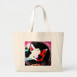 english bull terrier canvas bag