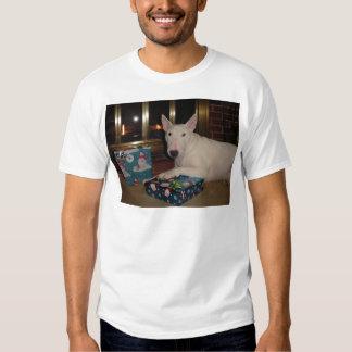 english bull terrier christmas present t-shirts
