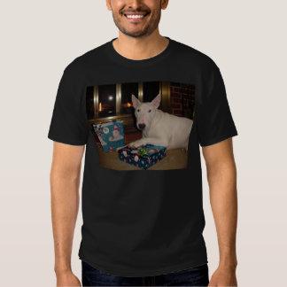 english bull terrier christmas present t shirts