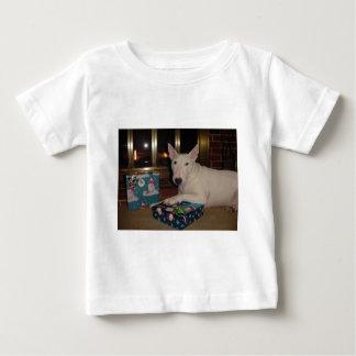 english bull terrier christmas present tee shirt