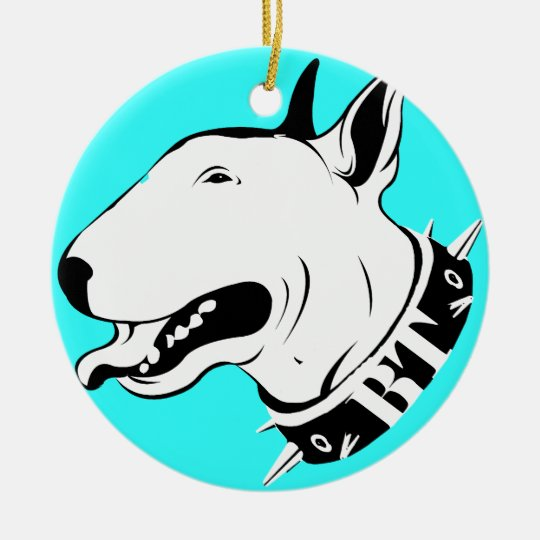 English Bull Terrier Colorful Holiday Ornament