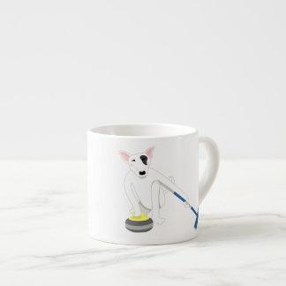 English Bull Terrier Curling 6 Oz Ceramic Espresso Cup