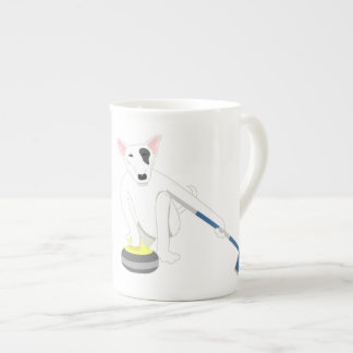 English Bull Terrier Curling Tea Cup