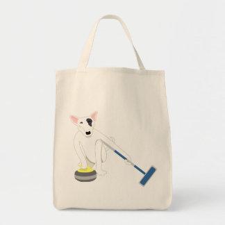 English Bull Terrier Curling Tote Bag
