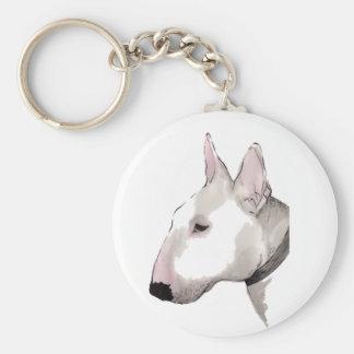 english bull terrier keyring