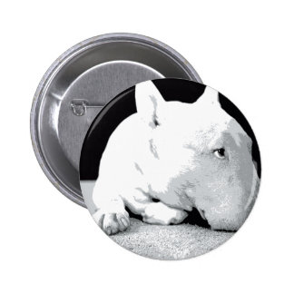 English Bull Terrier, Pop Art Print Pin