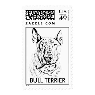 english bull terrier postage stamp
