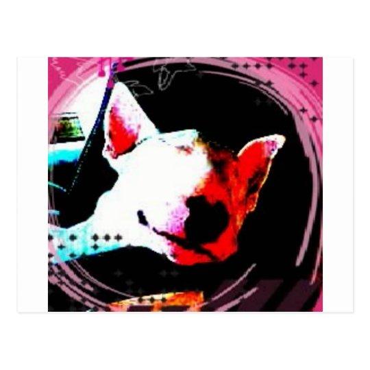 english bull terrier postcard