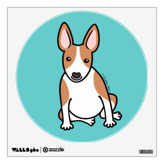 English Bull Terrier Puppy Dog ... brown & white Wall Decal
