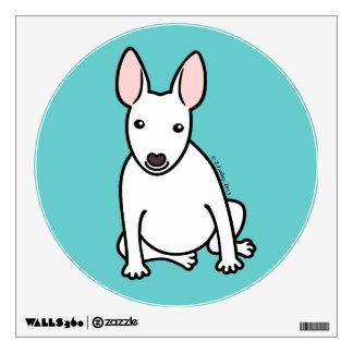 English Bull Terrier Puppy Dog ... white Wall Sticker