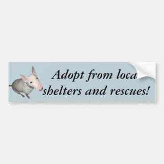 English Bull Terrier Sitting Pretty-Adopt Bumper Sticker