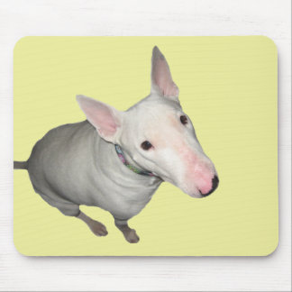 English Bull Terrier Sitting Pretty Mouse Pad